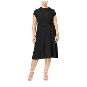 Love Squared Black MIDI Dress. Plus 3X. New! NWT!